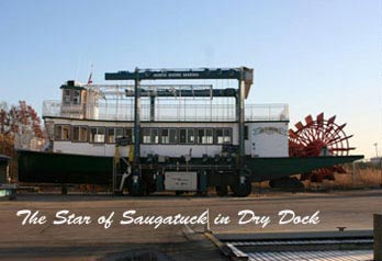 Star of Saugatuck II in Dry Dock